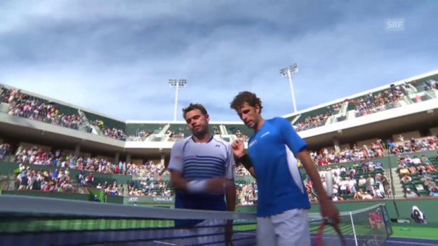 Video «Tennis: ATP Indian Wells, Wawrinka - Haase» abspielen