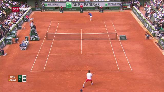Tennis: Wawrinka unterliegt Nadal («sportaktuell»)