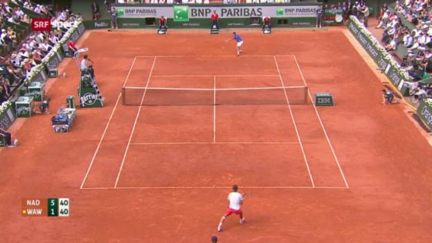 Video «Tennis: Wawrinka unterliegt Nadal («sportaktuell»)» abspielen