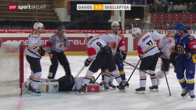 Video «Eishockey: CHL, Davos - Skelleftea» abspielen