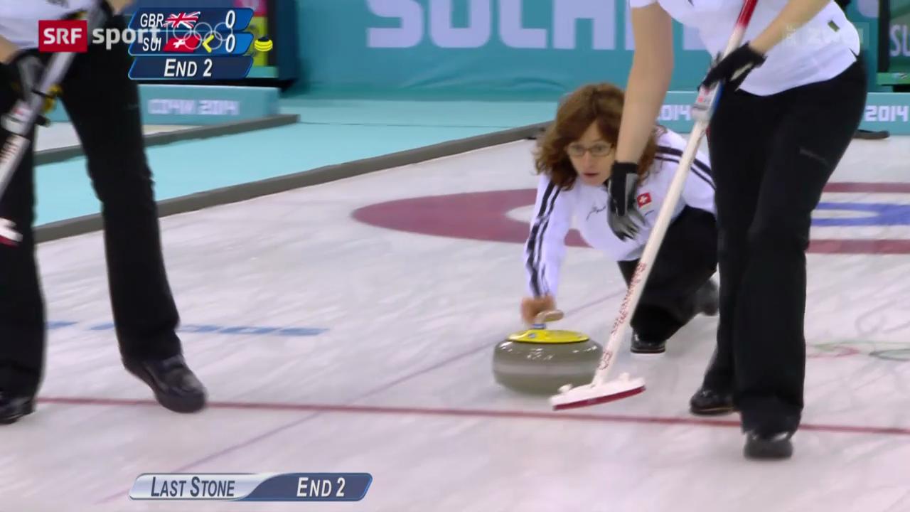 Curling Frauen: Bronzespiel Schweiz - Grossbritannien