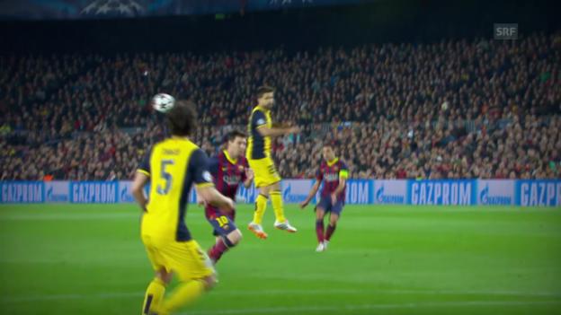 Video «Fussball: CL-Viertelfinals, Atletico - Barcelona: Vor dem spanischen Rückspiel» abspielen