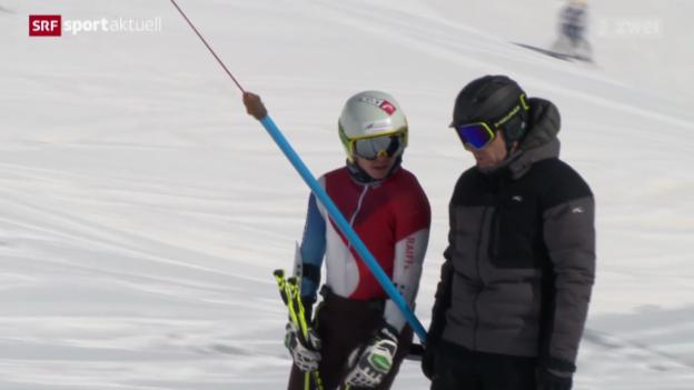 Video «Paralympics: Didier Cuche trainiert seinen Neffen Robin Cuche» abspielen