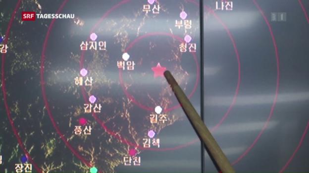 Video «USA drohen Nordkorea wegen Atomtest mit Konsequenzen» abspielen