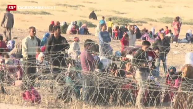 Video «Tausende Kurden fliehen in die Türkei» abspielen