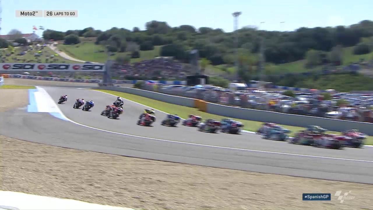 Dieser «Highsider» kostete Lüthi in Jerez ein Topresultat