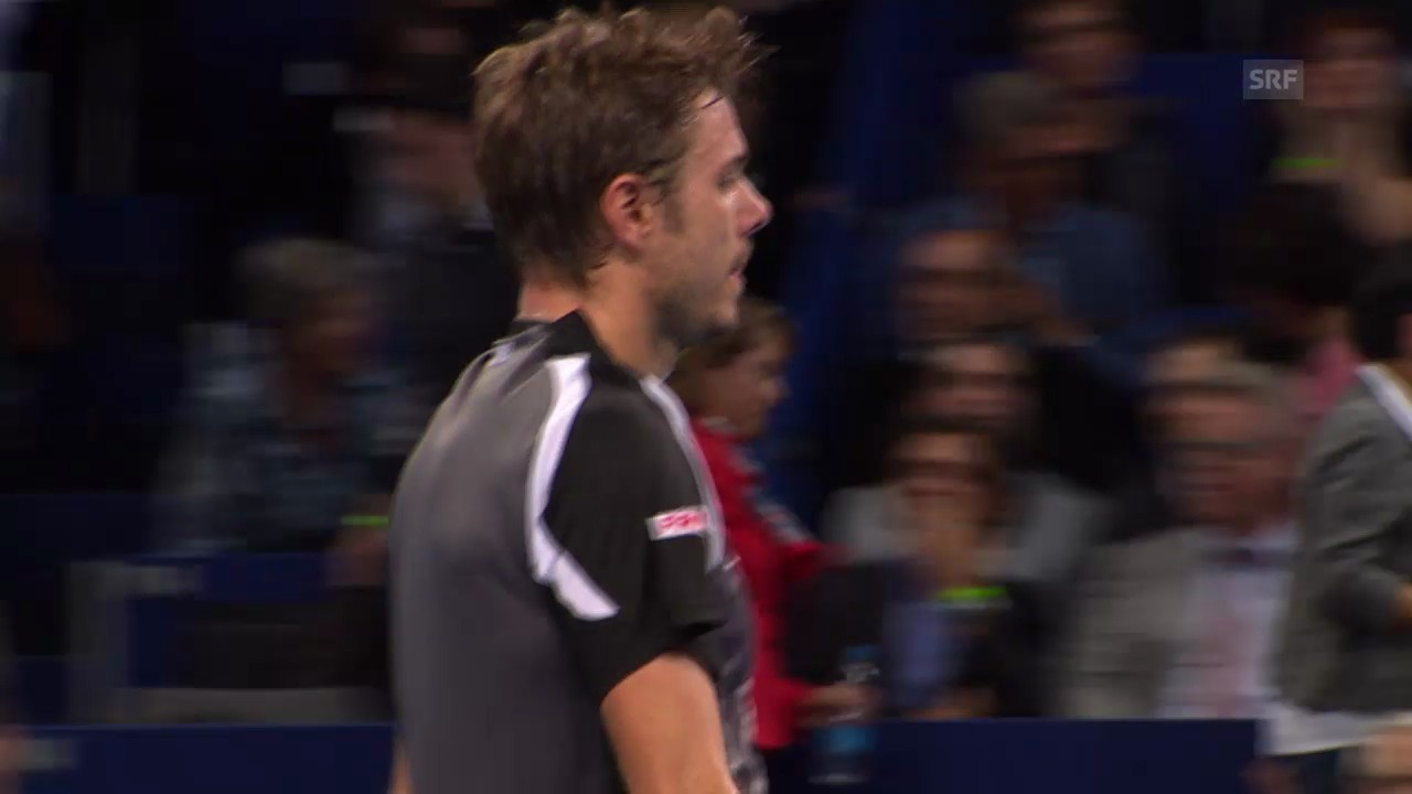 Tennis: Swiss Indoors, Matchball Kukuschkin gegen Wawrinka