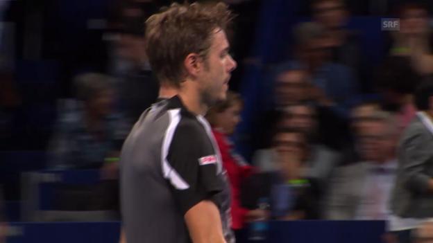 Video «Tennis: Swiss Indoors, Matchball Kukuschkin gegen Wawrinka» abspielen