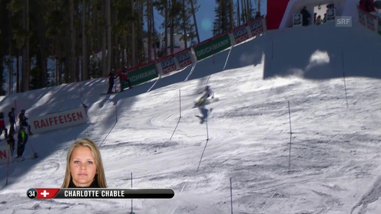 Ski-WM Vail/Beaver Creek, SL Frauen, 1. Lauf Chable