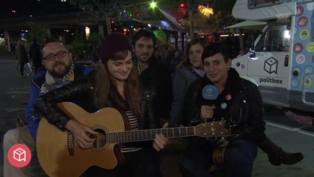 Video «politbox on tour #16: Live-Sendung aus Bern» abspielen