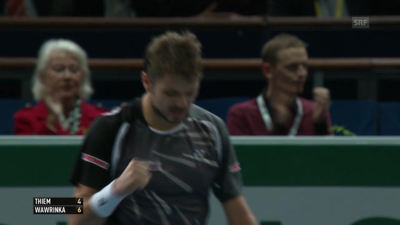 Tennis: ATP Paris-Bercy, Wawrinka-Thiem, entscheidende Ballwechsel