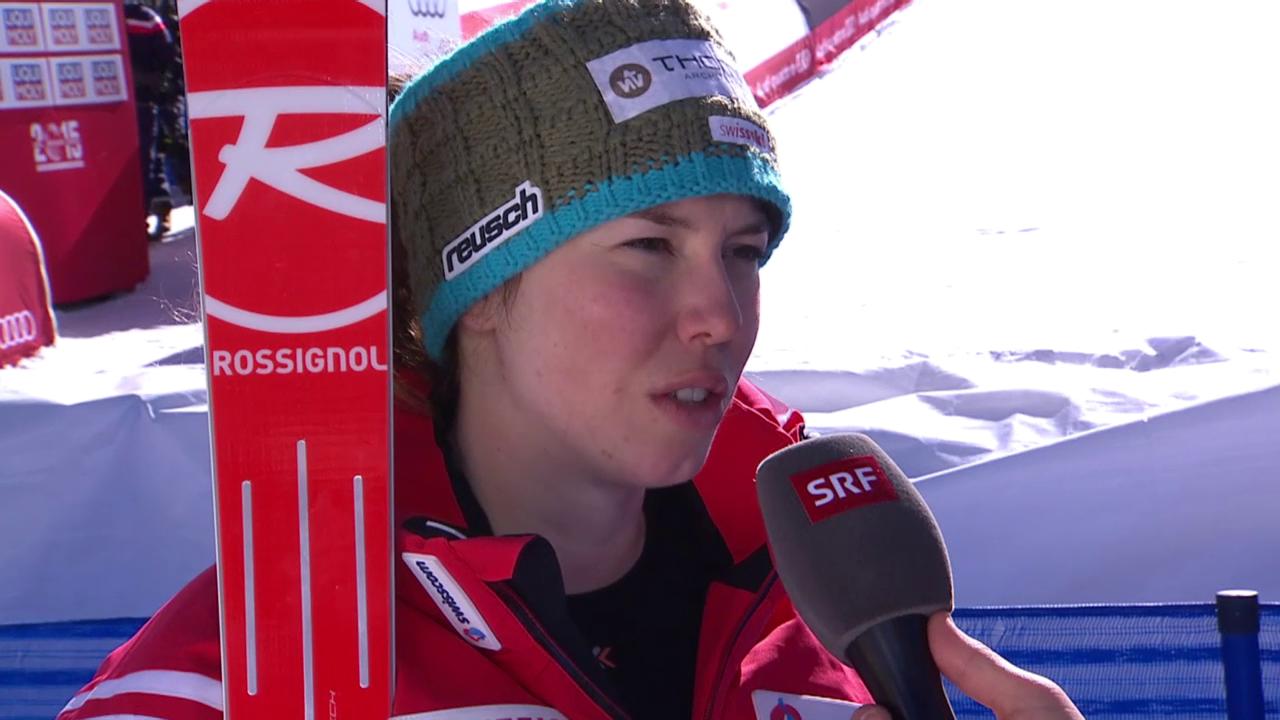 Ski-WM Vail/Beaver Creek, Inti Gisin nach 1. Lauf