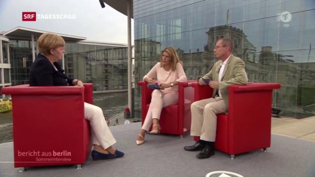 Video «Merkel: «Werde es zum gegebenen Zeitpunkt sagen»» abspielen