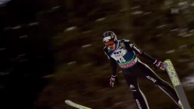 Skispringen Trondheim: 1. Sprung von Gregor Deschwanden (unkommentiert)
