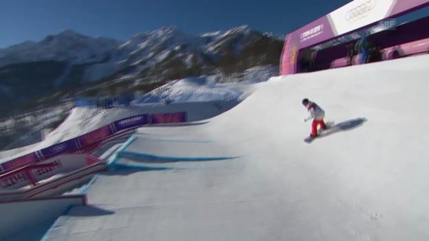 Video «Sotschi: Slopestyle, Zweiter Halbfinal-Run von Koch» abspielen