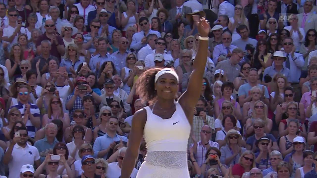 Tennis: Wimbledon, Halbfinal S. Williams - Scharapowa, entscheidende Punkte
