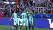 Video «Als gäbe es nichts Einfacheres: Ronaldo köpfelt ein» abspielen