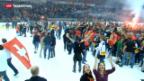 Video «Berner Hockeyfans feiern ihren SCB» abspielen