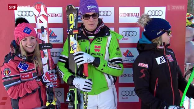 Video «Ski: Abfahrt Frauen in Lake Louise» abspielen