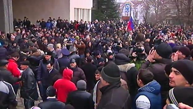 Video «Proteste Simferopol» abspielen