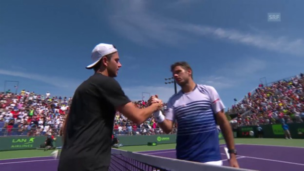 Video «Tennis: ATP-1000-Turnier in Miami, 3. Runde, Wawrinka - Mannarino» abspielen