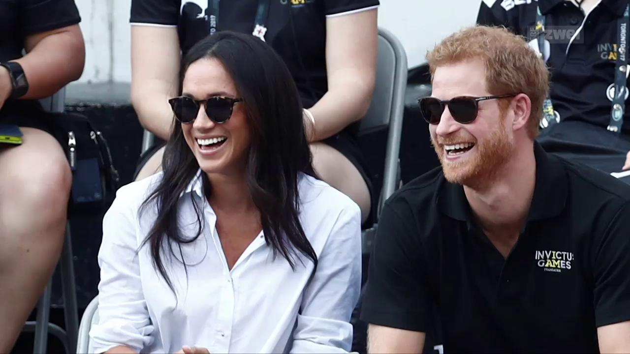 Meghan Markle und Prinz Harry turteln öffentlich