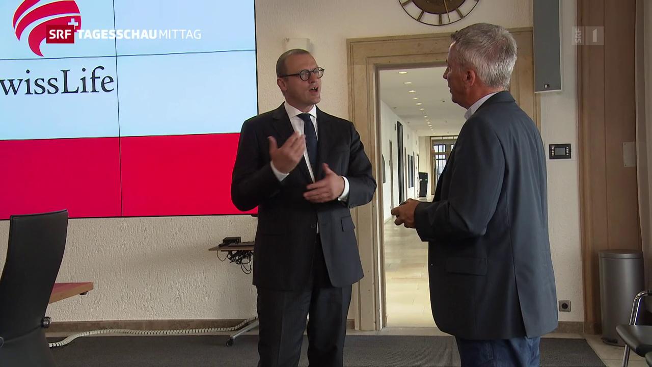 Swiss-Life-Chef wieder zurück am Arbeitsplatz
