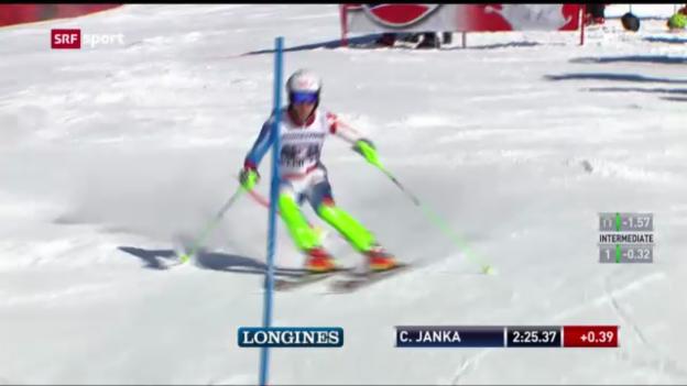 Video «Ski: Superkombi Männer Wengen» abspielen