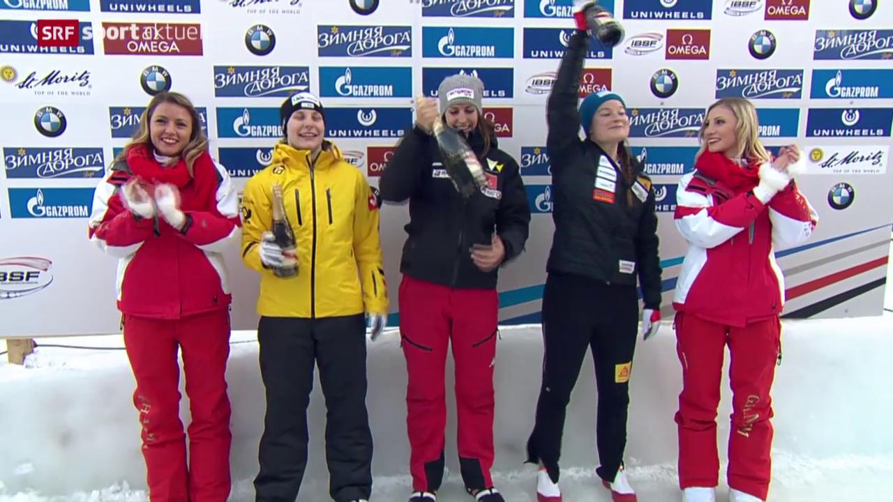 Gilardoni holt an der Skeleton-EM in St. Moritz dank Bahnrekord Bronze