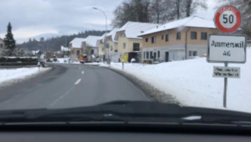 Autofahrt durch Ammerswil