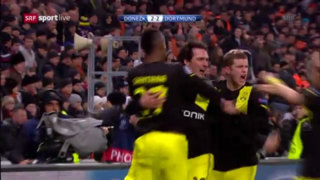 Video «Dortmund holt Remis in Donezk» abspielen