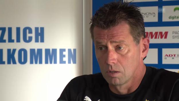 Video «GC-Trainer Skibbe: Spannungen waren nicht Ursache für Suspendierung» abspielen
