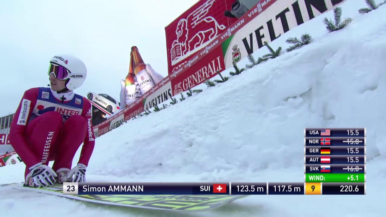 Skispringen: Vierschanzentournee, Innsbruck, 2. Sprung Simon Ammann