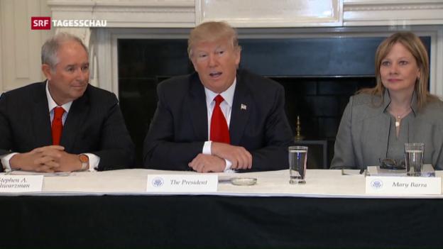 Video «Bankenregulierung: Trump will Lockerung» abspielen