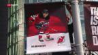 Video «Nico Hischier vor seinem NHL-Debüt» abspielen