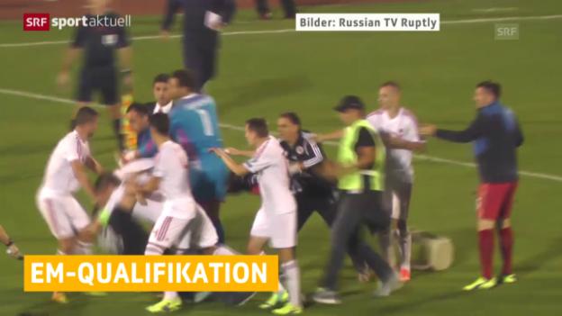 Video «Fussball: Neues Urteil bei Skandalspiel Serbien - Albanien» abspielen