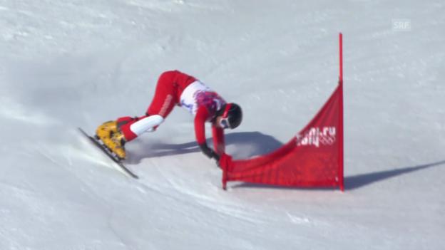 Video «Snowboard: Parallel-Slalom, Philipp Schoch scheidet aus (sotschi direkt, 22.02.2014)» abspielen