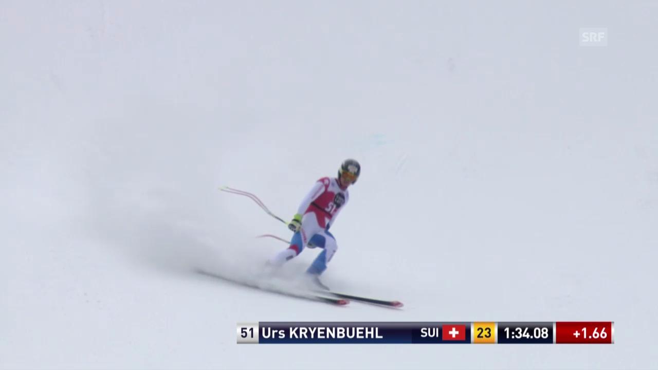 Ski: Abfahrt Männer Santa Caterina, Fahrt von Urs Kryenbühl