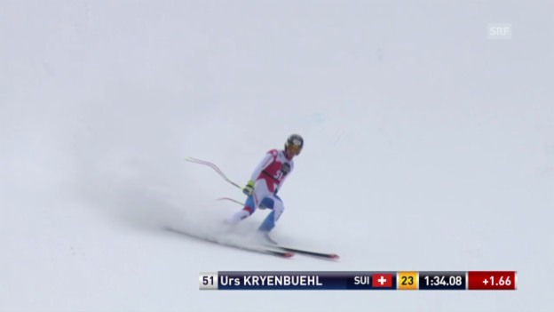 Video «Ski: Abfahrt Männer Santa Caterina, Fahrt von Urs Kryenbühl» abspielen