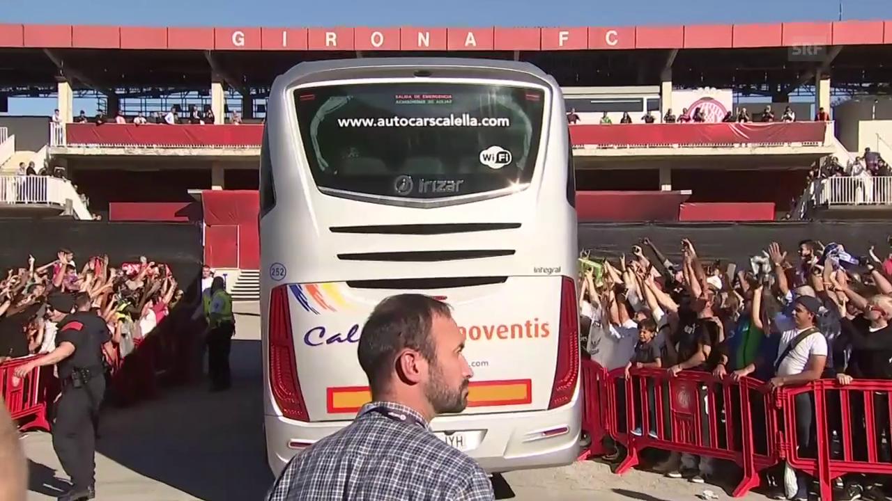 So wurde Real im katalanischen Girona empfangen