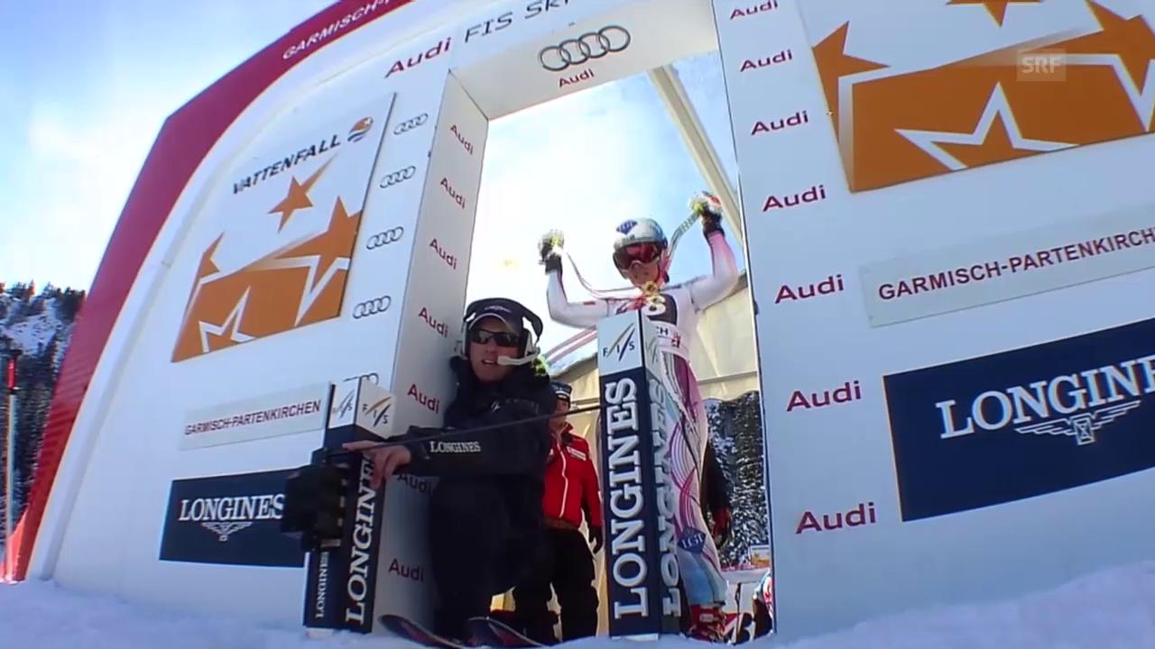 Ski: Frauen-Abfahrt in Garmisch-Partenkirchen, Fahrt von Tina Weirather