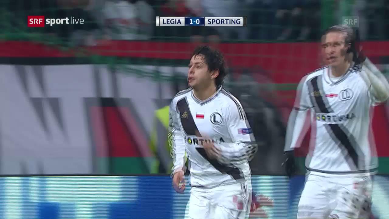 Legia schnappt Sporting das EL-Ticket weg
