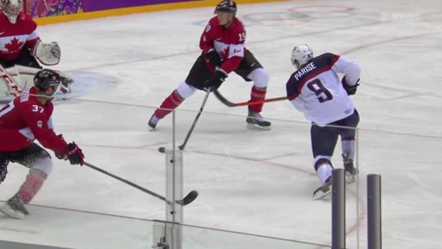 Video «Eishockey: Halbfinal USA-Kanada» abspielen