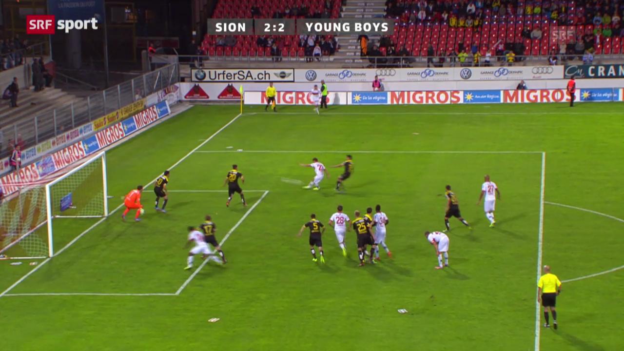 Fussball: Zusammenfassung Sion - YB («sportaktuell»)