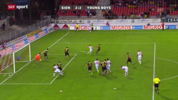 Video «Fussball: Zusammenfassung Sion - YB («sportaktuell»)» abspielen