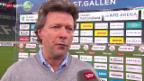 Video «Fussball: Super League, Stimmen zu St. Gallen - YB» abspielen