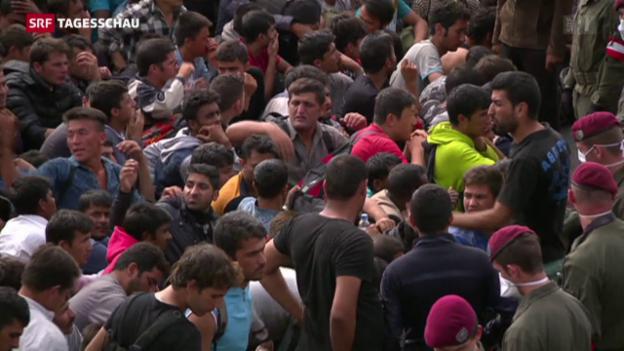 Video «Vom Füchtlingsansturm überfordert» abspielen
