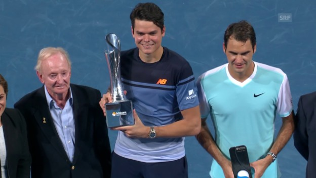 Video «Raonics Revanche: Finalsieg gegen Federer» abspielen