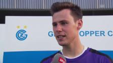 Link öffnet eine Lightbox. Video GC-Goalie Lindner über das Derby, die Nummer 1 und Kollers Tipps abspielen