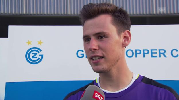 Video «GC-Goalie Lindner über das Derby, die Nummer 1 und Kollers Tipps» abspielen